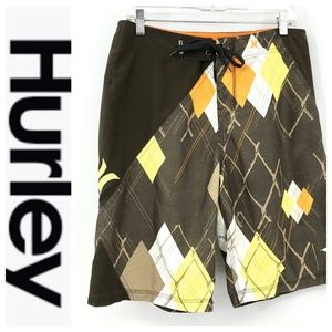 💕SALE💕 Hurley Mens Brown Boardshorts